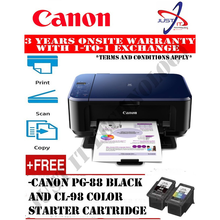 Canon Pixma G3010 All In One Printer Shopee Malaysia Inkjet Print Scan Copy Wifi