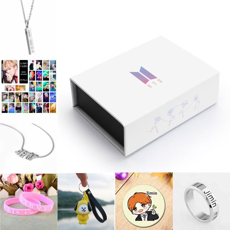 Kpop BTS Army Box Bangtan Boys BTS Album High Guality Gift Case for Jungkook Jimin V Bracelet Button Necklace 92 JIN Box