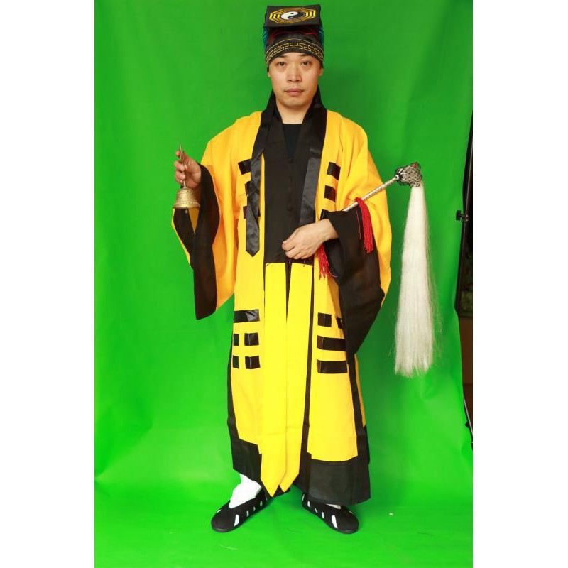 940bfd213df85 Adult Taoist performance yellow zombie Taoist costume annual meeting film  and te