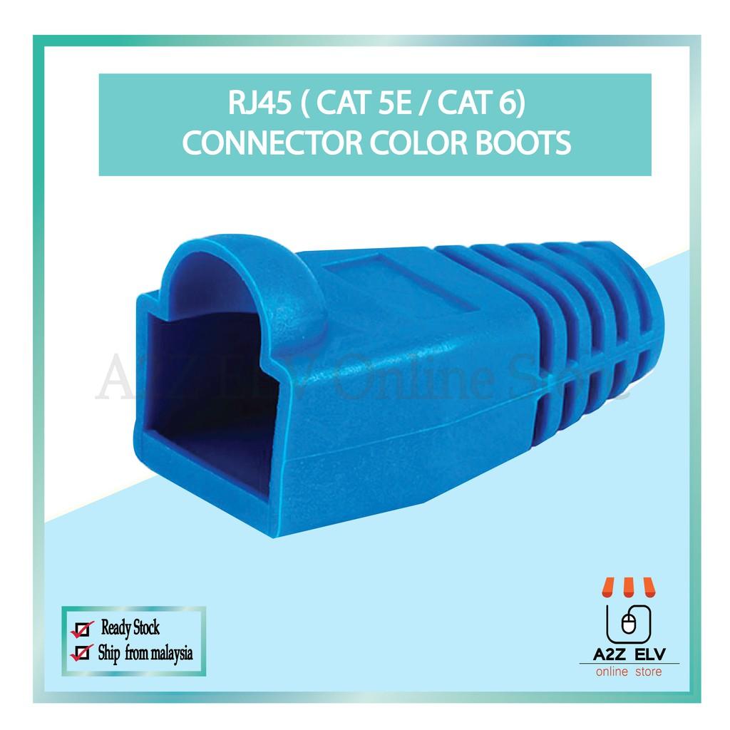 Cat 5E / Cat 6 - RJ45 Connector Color Boots -1 Pack 100 UNIT c/w BLUE COLOR !!!