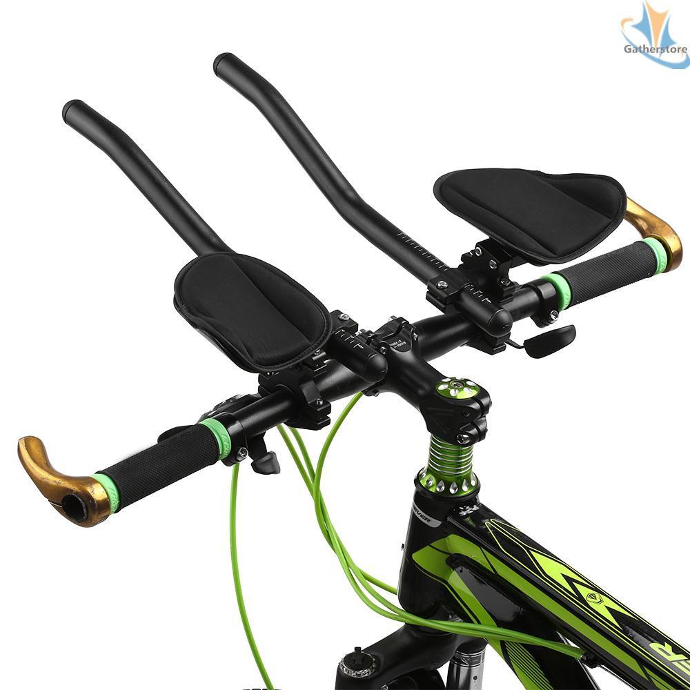 Bicycle Rest Handlebar Bike Aluminium Alloy Arm Rest Handlebar Triathlon Aero Bicycle Tri Bars Relaxlation Handlebars for Road Bike and Mountain Bike