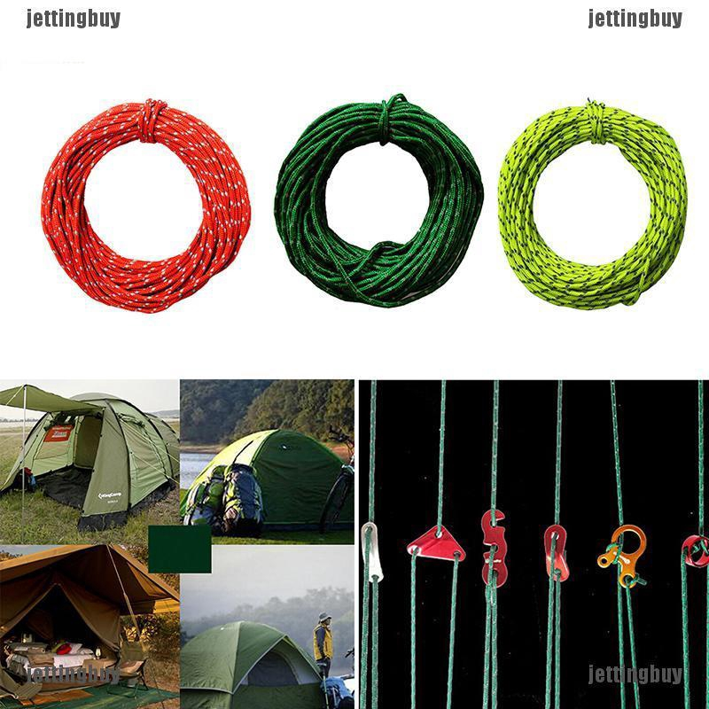 NatureHike Reflective Camping Tarp Tent Rope Runners Guy Line Paracord Red