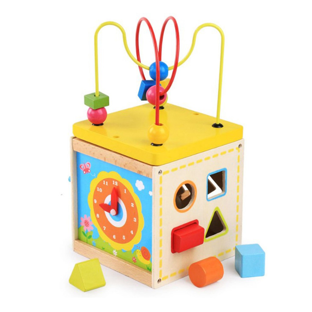 Activity Cube Toys Circle Bead Colorfu Educational Toy For Kids Children Toddler