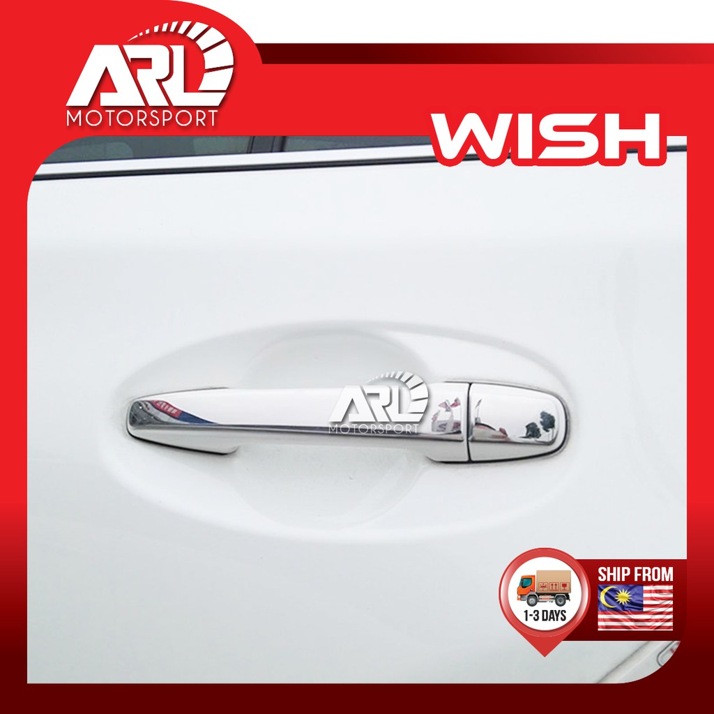 Toyota Wish AE20 Door Handle Protector Stick Type - Thin Chrome Decoration Car Auto Acccessories ARL Motorsport