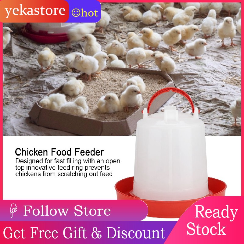 Practical Automatic Easy To Carry Automatic Chicken Waterer Chicken Feeder Chicken Chicken Feeder Bucket for Poultry Chick 2L Convenient To Add Water