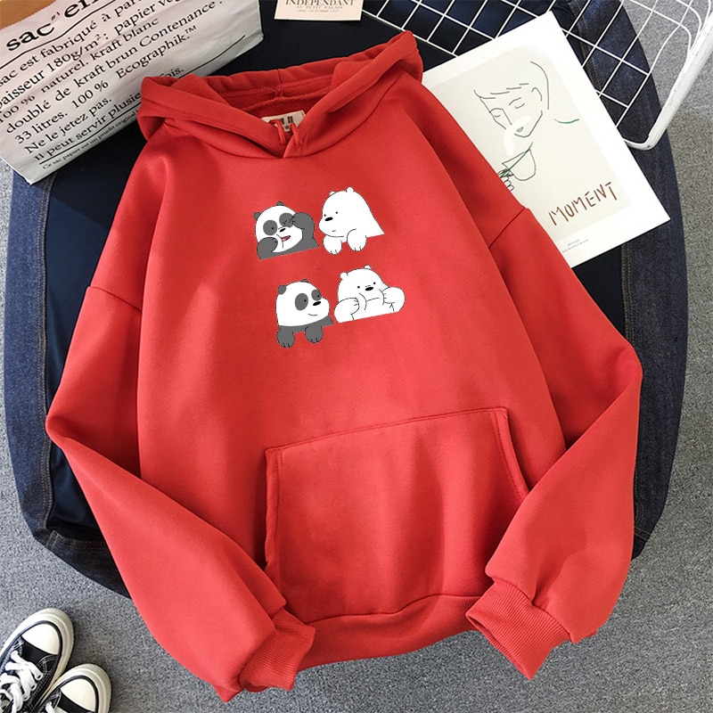Unisex Long Sleeve Loose Hoodies Sweatshirt Pocket Casual Pullover Tops