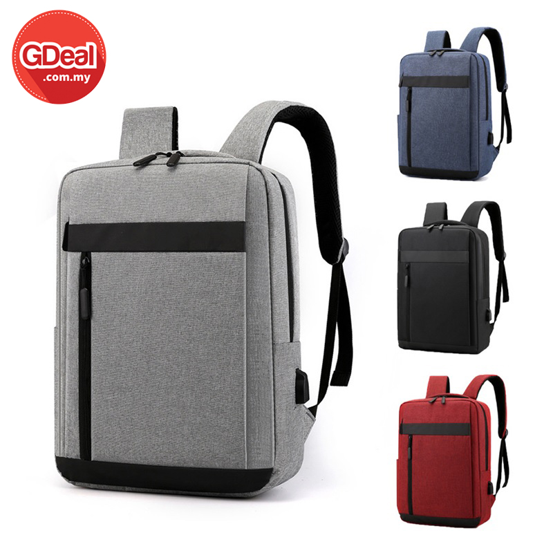 GDeal Multi functional USB Nylon Lightweight Outdoor Casual Business Travel Computer Backpack Student Bag