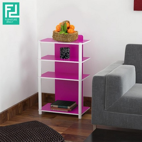 Furniture Direct MR2312 Multi purpose 4 tier side table-Pink