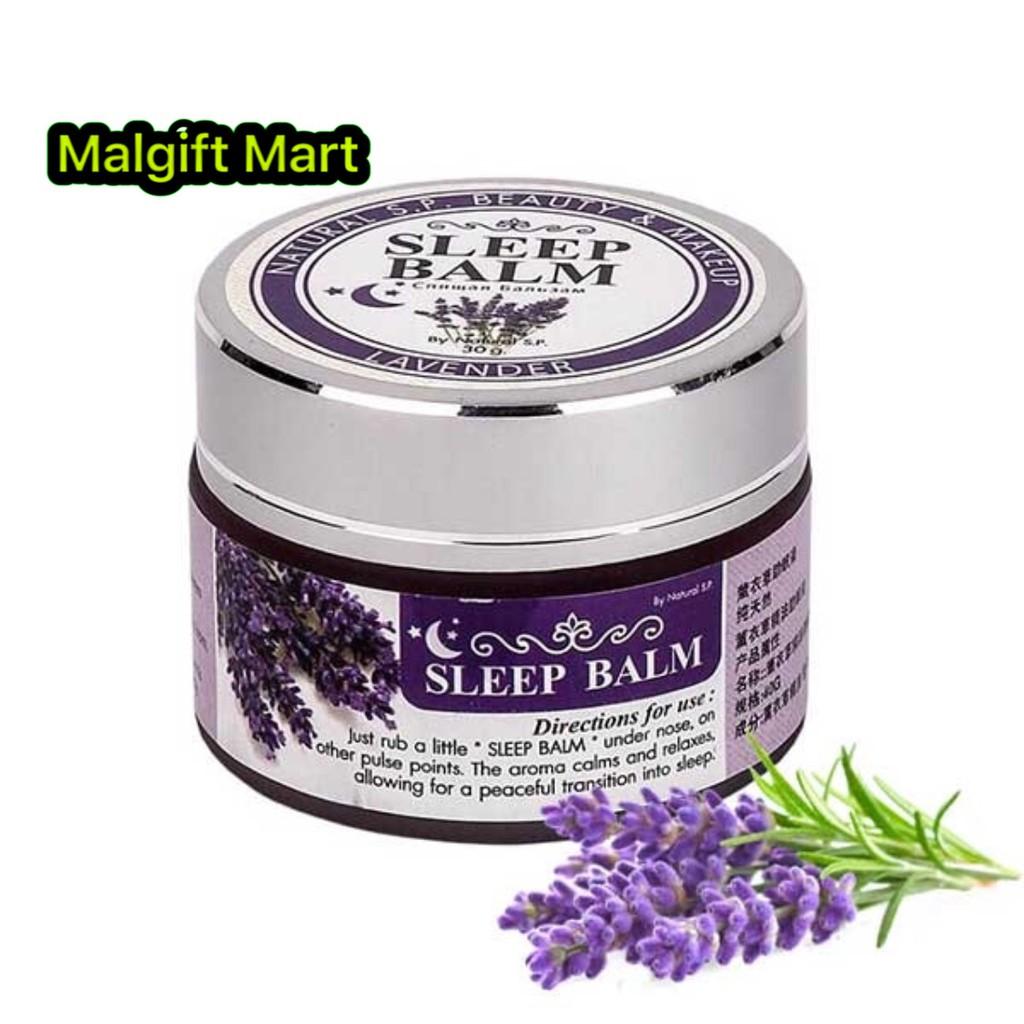 Siam Sleep Balm With Lavender Essential Oil 30g Shopee Malaysia