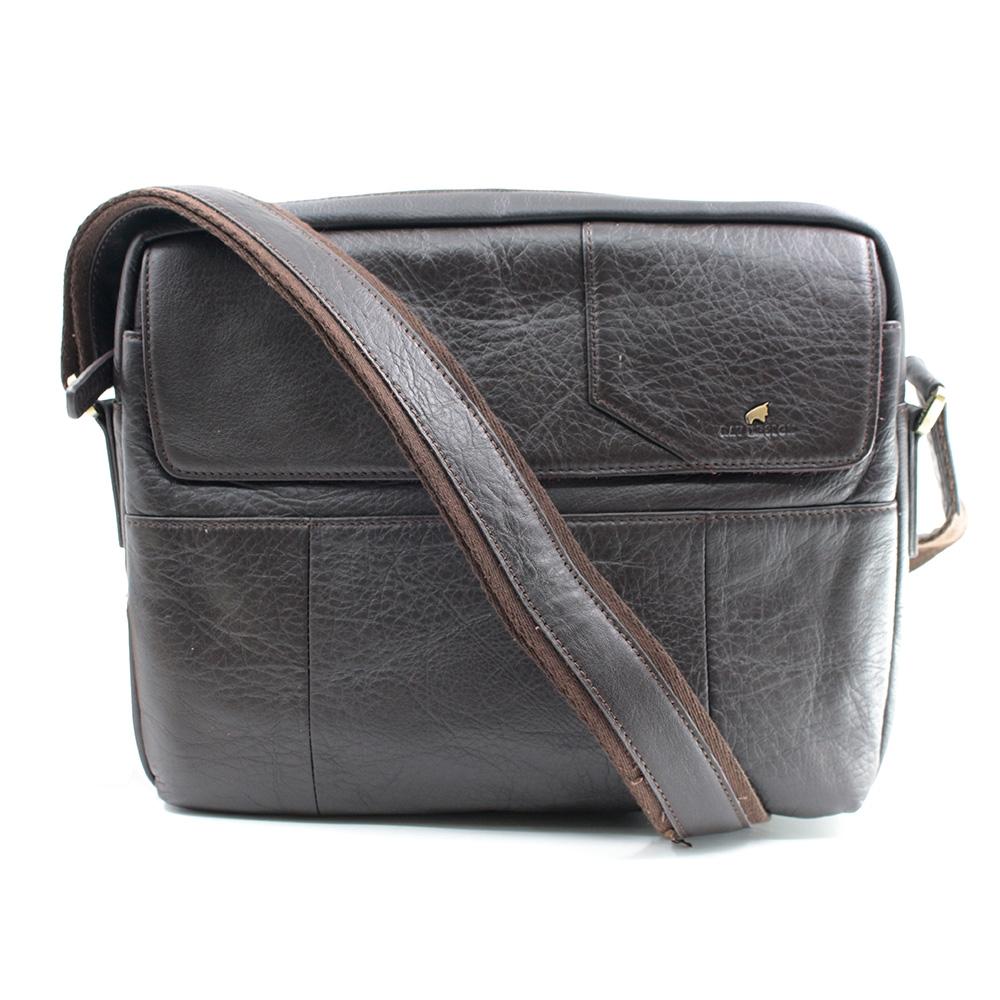 RAV DESIGN Men's Sling Bag Genuine Leather |RVC471G2