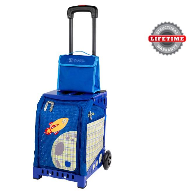 ZUCA (USA) - BlassOff Mini Bag + FREE Pouch with Aerospace Frame (Black) & LED Wheels (Travel & School)