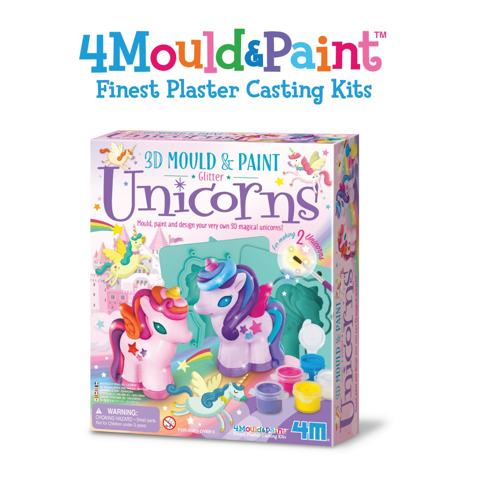 4M 3D Mould & Paint / Glitter Unicorns