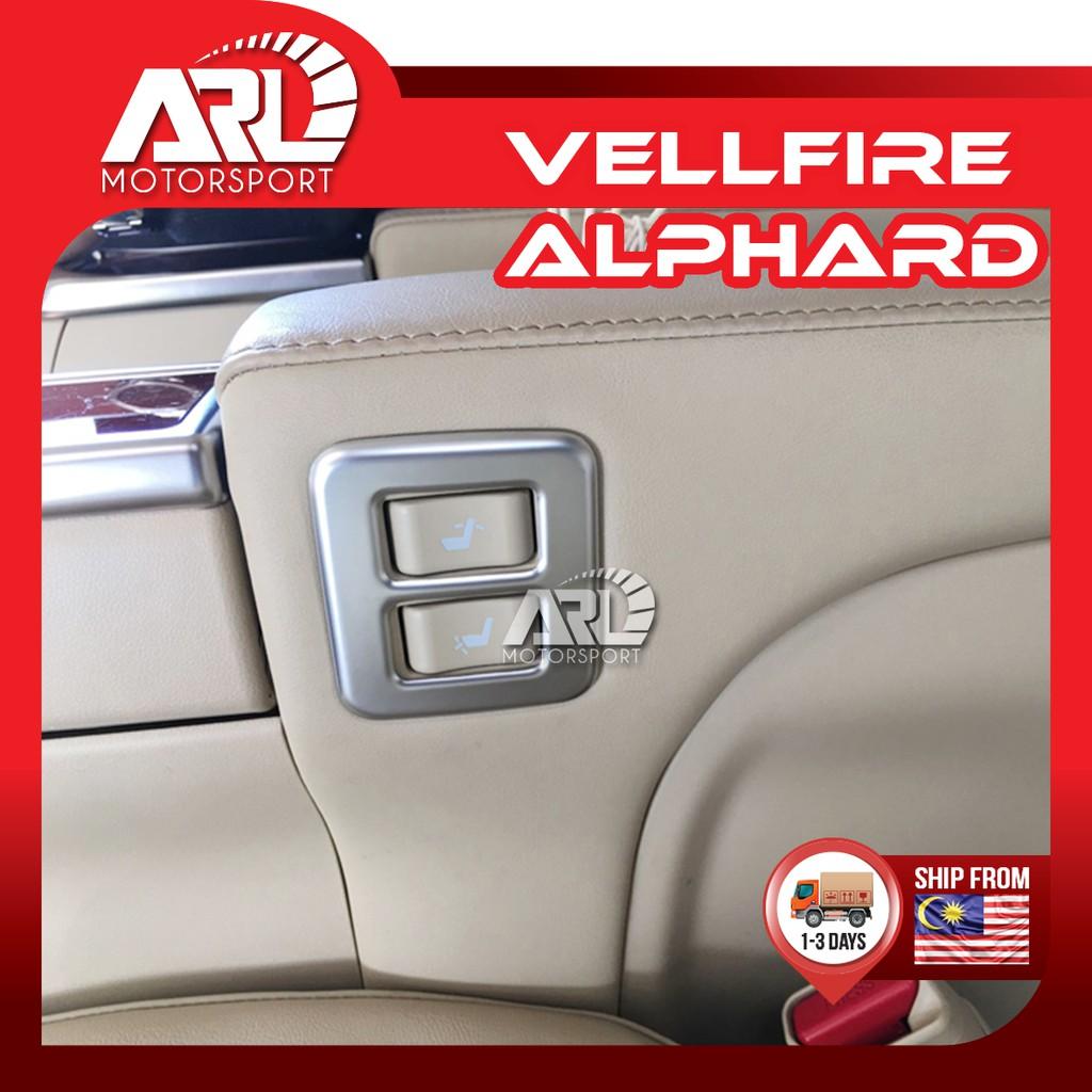 Toyota Alphard / Vellfire (2015-2020)AH30 AGH30 Passenger Seat Button Lining Silver Car Auto Acccessories ARL Motorsport