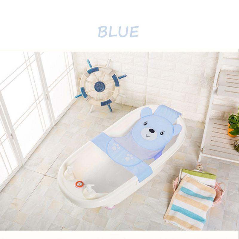 Baby Care Adjustable Infant Shower Bathing Bathtub Bath Net Seat Color Random