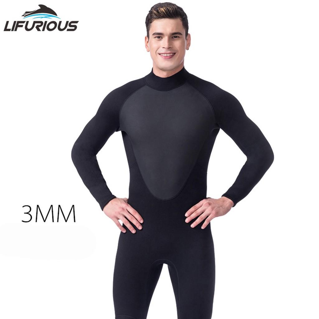 ad5b51f1f5 3mm Winter Wetsuit Swimwear Men Dive Surfing Rashguard Jackets Plus Size  4XL