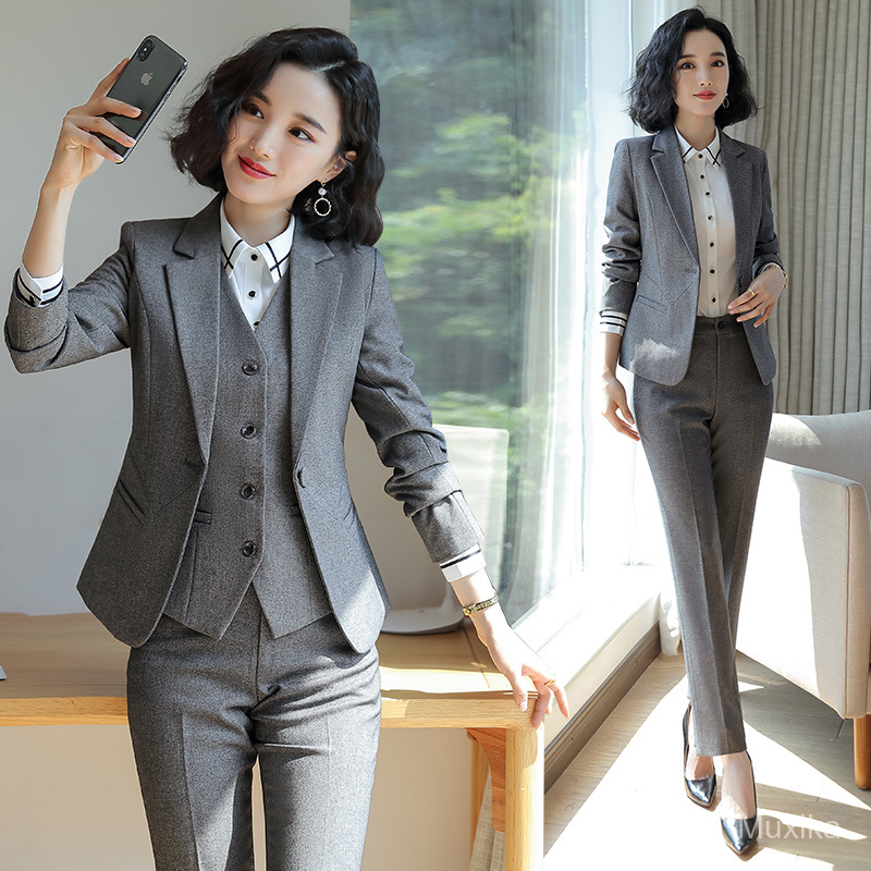 2019new Autumn Fashion Suit Female High End Suit Business Dress Office Work Clothes Rsll Shopee Malaysia