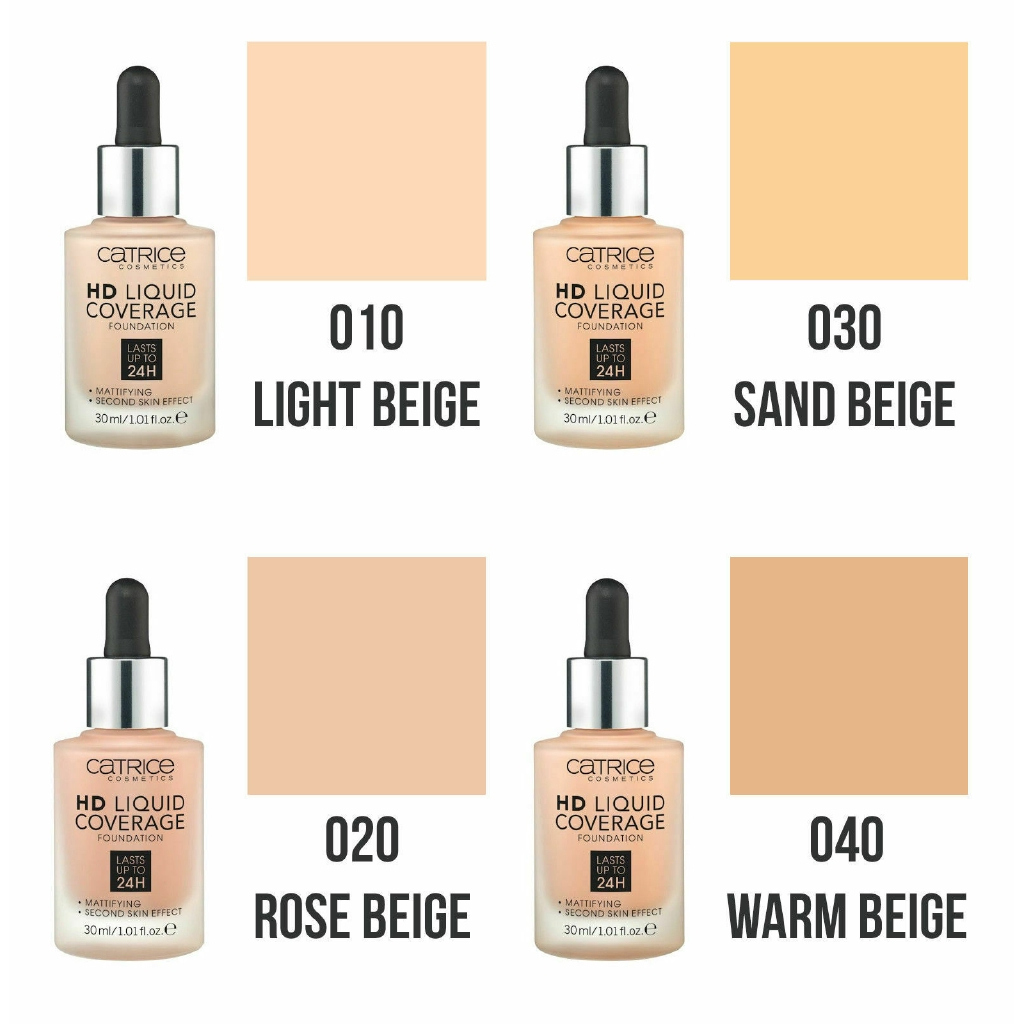 Catrice Hd Liquid Coverage Foundation Mattifying All Shades 100 Genuine Sealed Shopee Malaysia