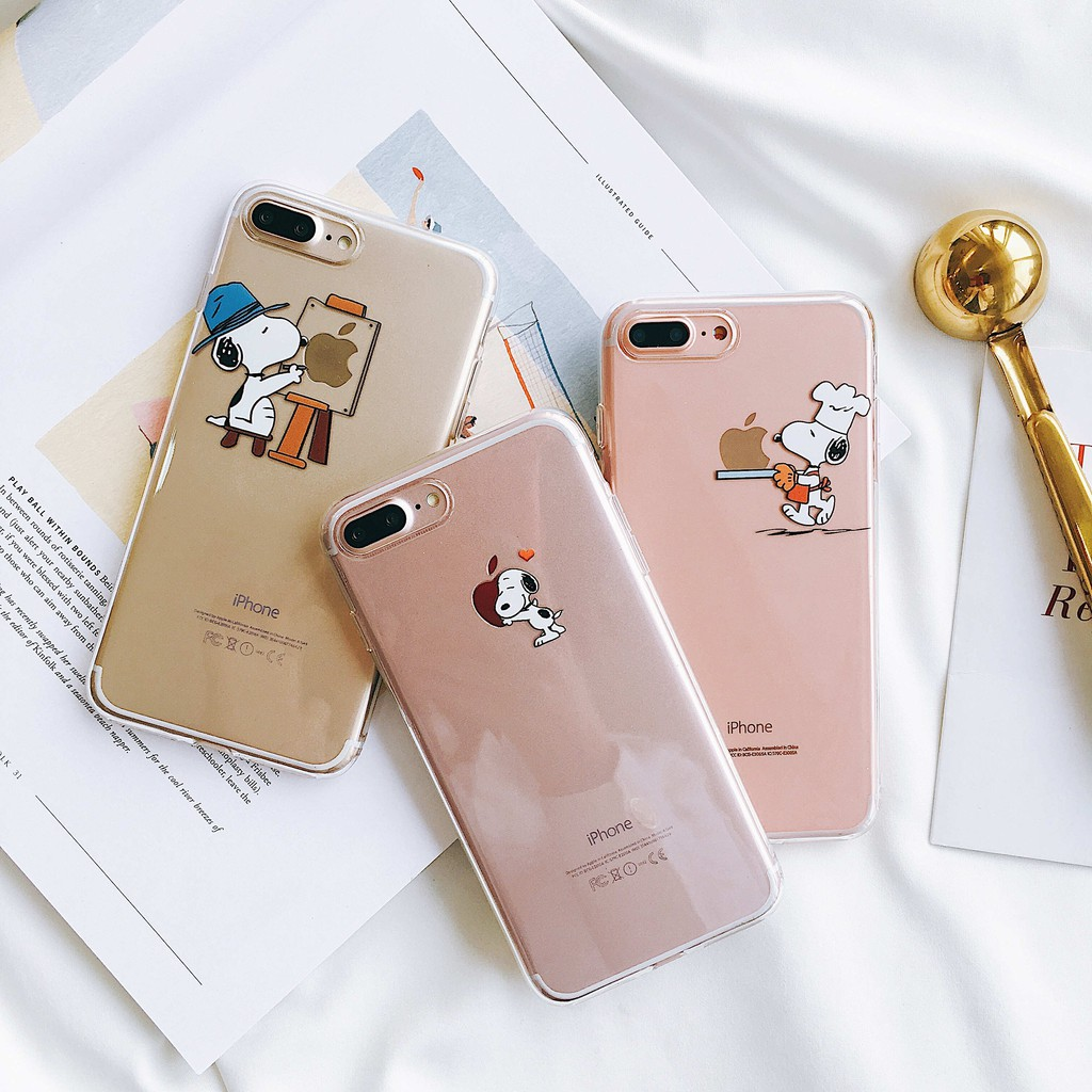 Snoopy Avalible Case iPhone 6 6s Plus 6Plus 7 8 7Plus 8Plus iPhone X Cover snooopy Soft TPU Case เค