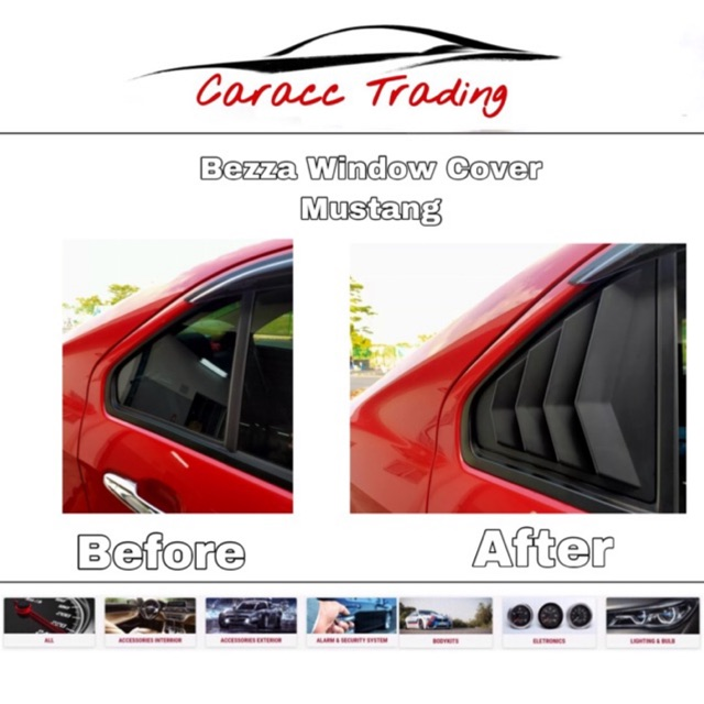 MUSTANG STYLE WINDOW COVER BEZZA