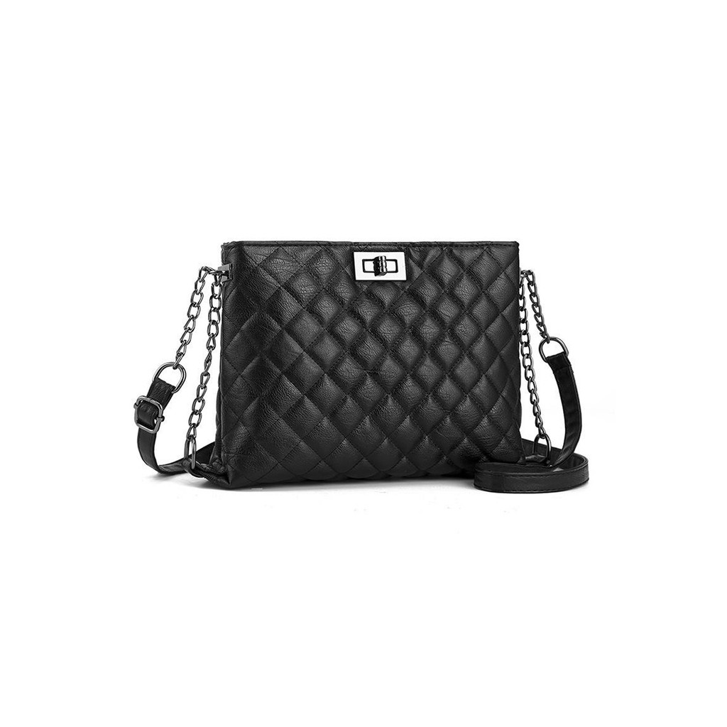 e98cf297dc7a Women Quilted PU Leather Cross-body Bag