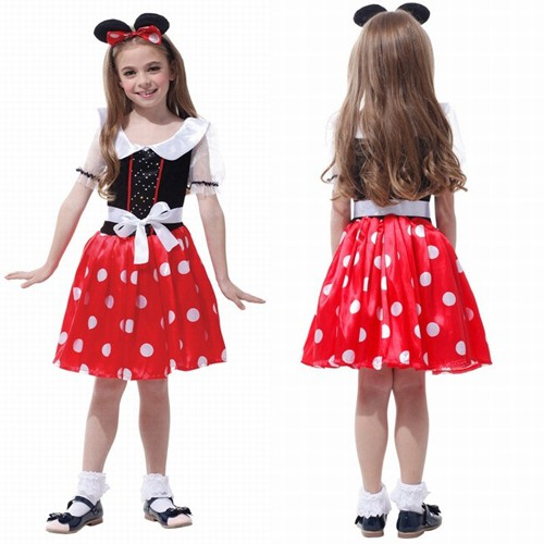 c33e920eec91 Minnie Mouse Kids Girls Party Fancy Dress with Hairband Halloween ...