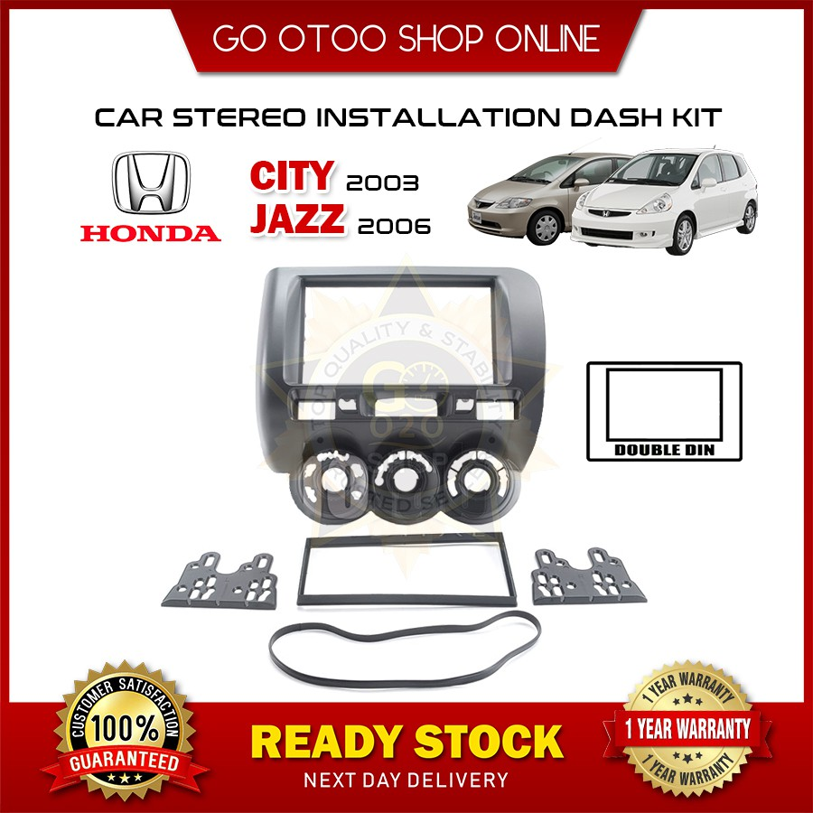 Honda Jazz 2006 & Honda City 2008 Car Audio Player Casing (Double Din)