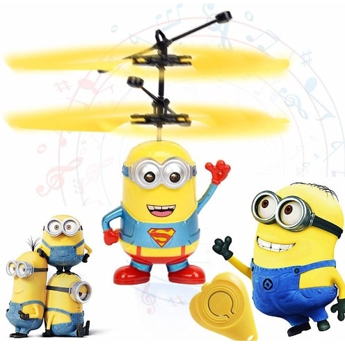 Minion drone RC Helicopter Aircraft Fly Flashing helicopter Kids Toys