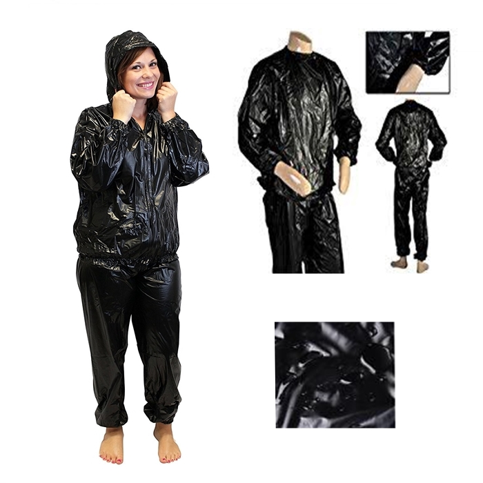 MALAYSIA] L-3XL SET BAJU SELUAR SAUNA Fitness Weight Loss Sweat Sauna Suit Anti-Rip