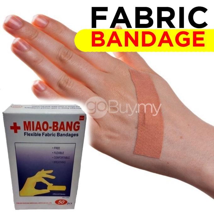 50pcs Flexible Fabric Bandages