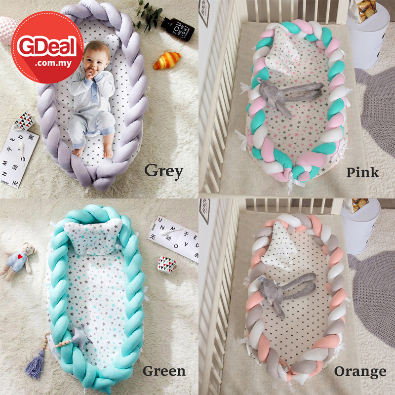 GDeal Comfortable Baby Rest Pad Cotton Woven Folding Portable Sleeping Crib Tilam Bayi تيلم بايي