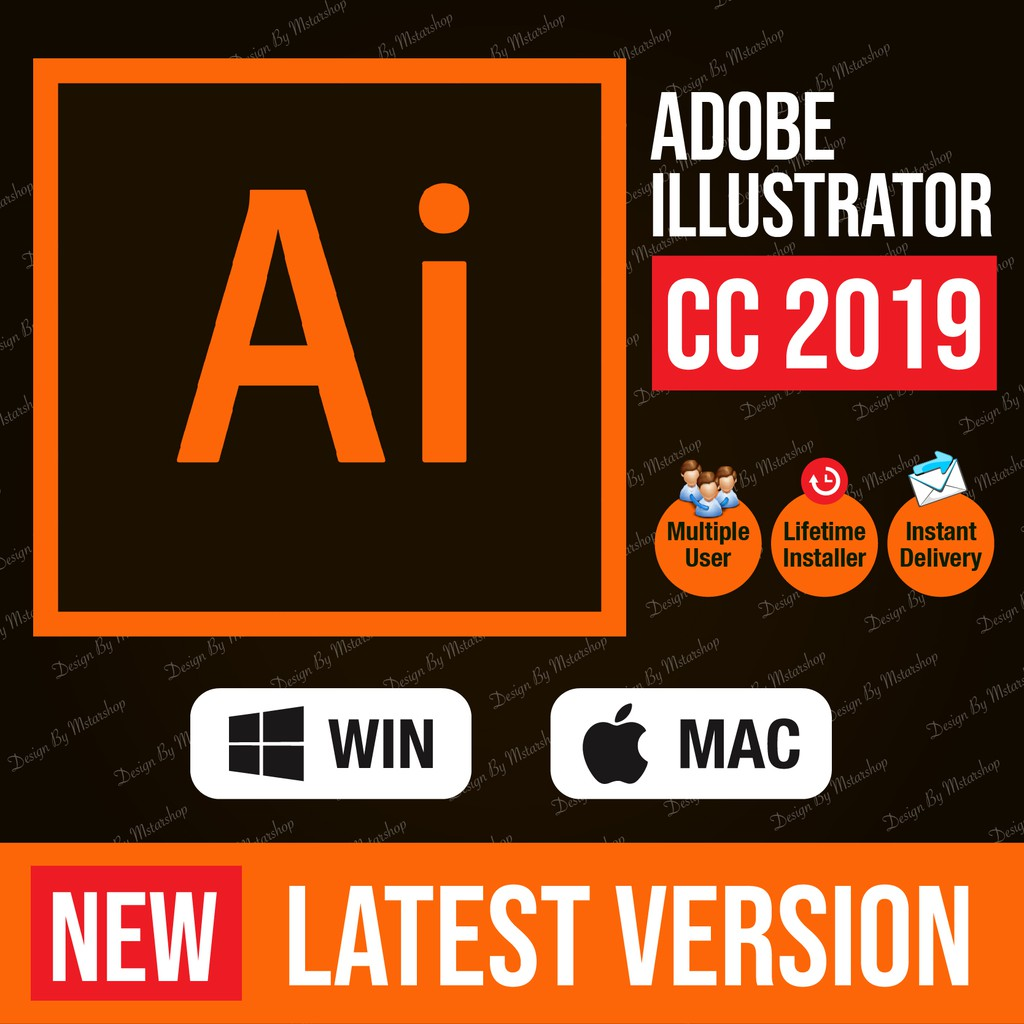 [lifetime version] Adobe Illustrator CC 2019 window 64bit
