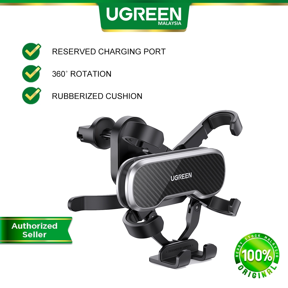 UGREEN Portable Car Phone Holder Car Air Vent Mount Holder Car Inverted hook Cradle Auto Clamping Gravity For SMARTPHONE
