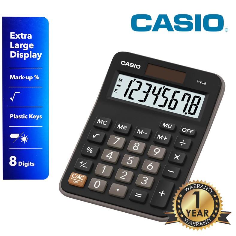 Casio MX-8B Two-Way Powered Calculator (1 years warranty)