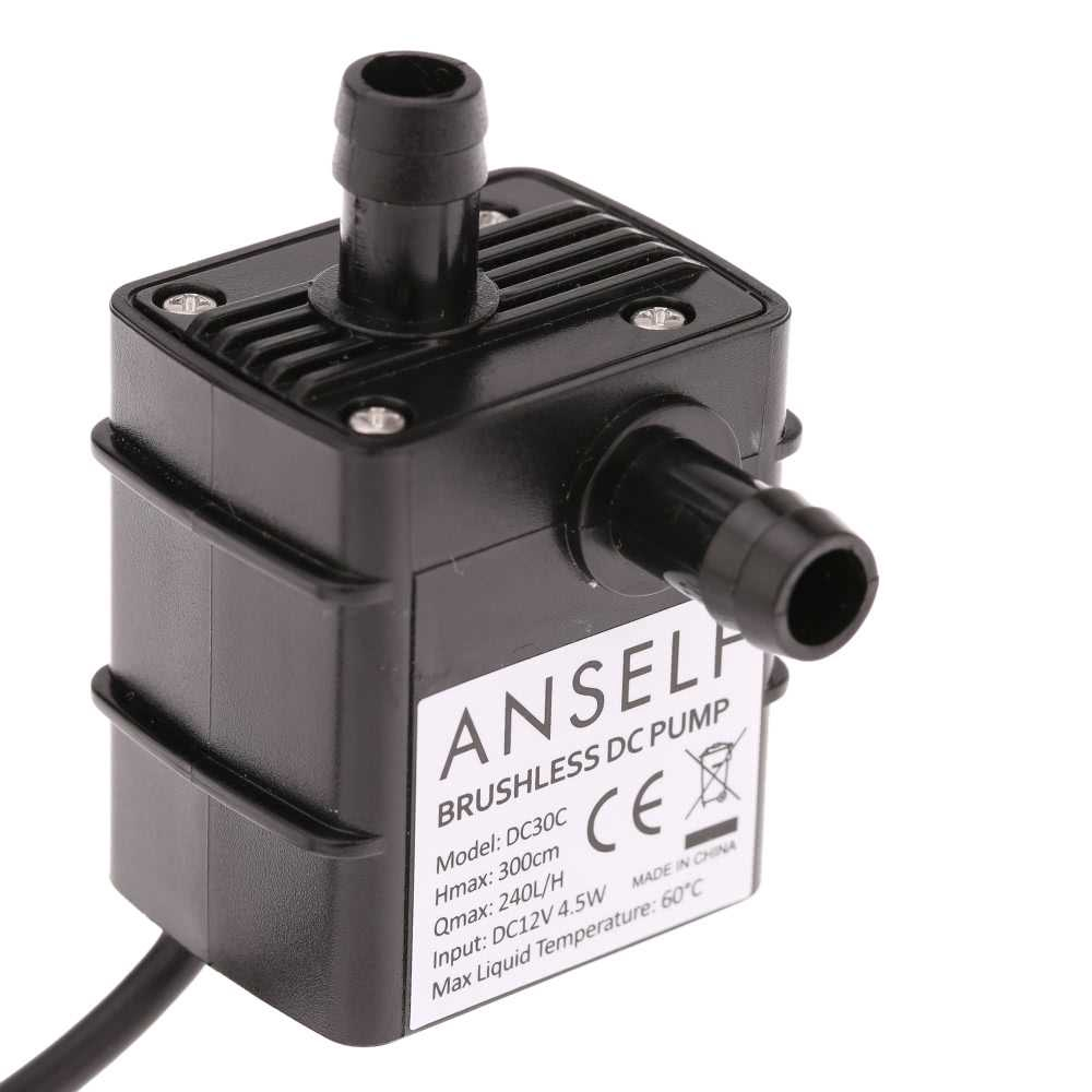 Anself Ultra-quiet Mini DC12V 4.5W Micro Brushless Water Oil Pump Waterproof Submersible Fountain Aquarium Circulating