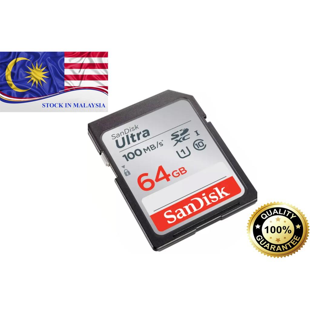 SanDisk Ultra® SDXC™ Card 64GB (Ready Stock In Malaysia)