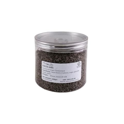 FELCHLIN, Cocoa Nibs, Caramalized Roasted Cocoa Beans, 2-3 mm, 200 g