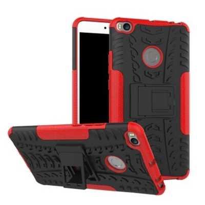Luanke 3D Relief Kickstand Cover Case for Xiaomi Mi MAX 2 (RED)