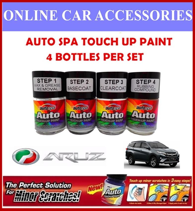 PERODUA Aruz Original Touch Up Paint - AUTOSPA Touch Up Combo Set (4 Bottles Per Set)