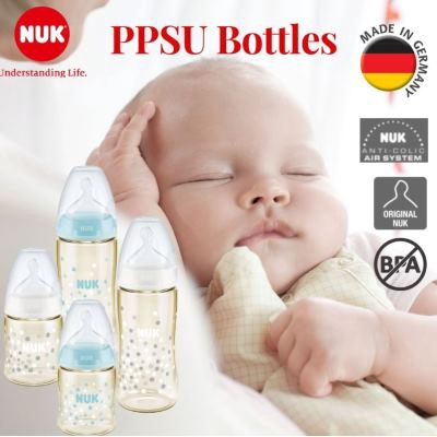 Nuk: Premium Choice: Wide Neck Bottle With Silicone Teat 150ml/5oz - 1pc - PPSU