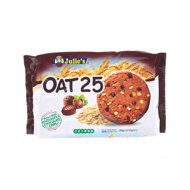 JULIE\'S OAT 25 HAZELNUTS & CHOCOLATE 200G