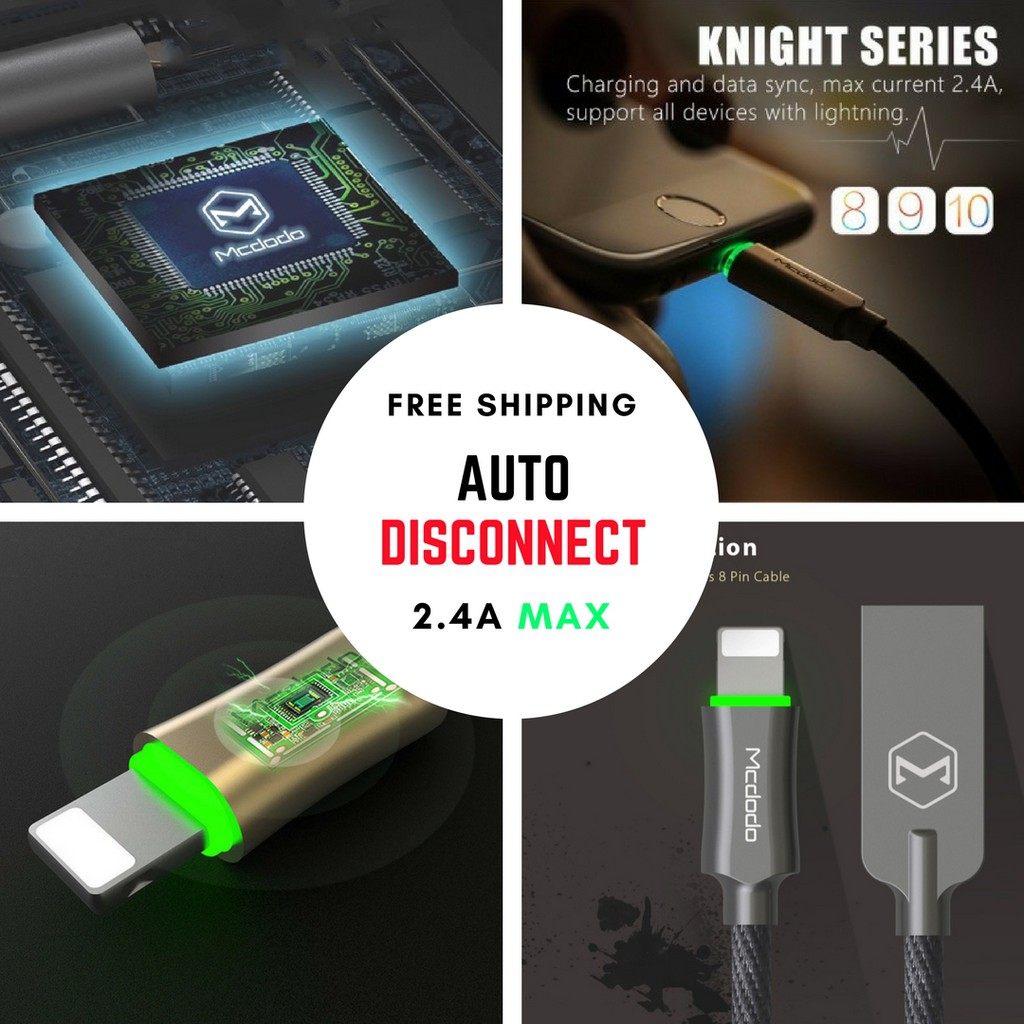 Mcdodo Online Shopping Sales And Promotions Aug 2018 Shopee Malaysia Knight Series Auto Disconnect Lightning Cable Charger Iphone