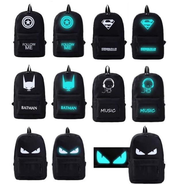 976dad313feb Glow in the Dark Backpack