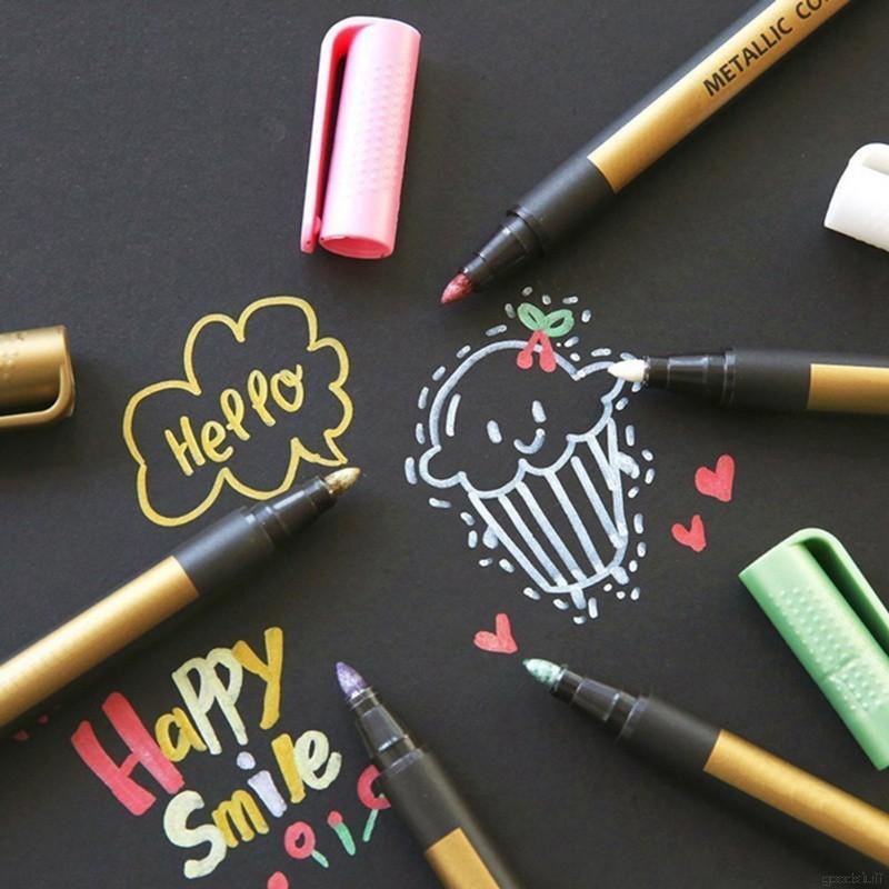 8ce545439c9de 10 Colors Metallic Markers Pen - Medium Point, Metallic Color Paint