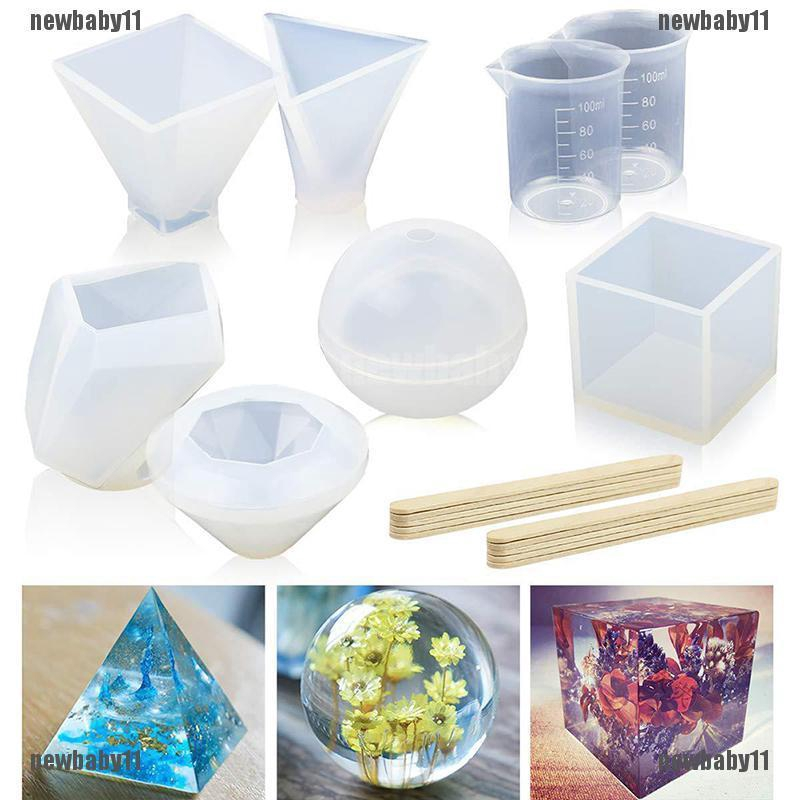 NEW11☀18PCS DIY Silicone Mold Making Jewelry Pendant Resin Casting Mould  Craft