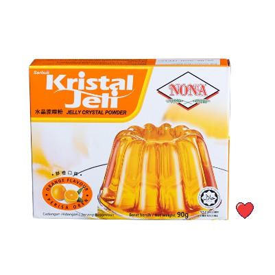 NONA Kristal Jeli / Jelly Crystal Powder ~ Orange Flavour @ 90g ( Free Fragile + Bubblewrap Packing )
