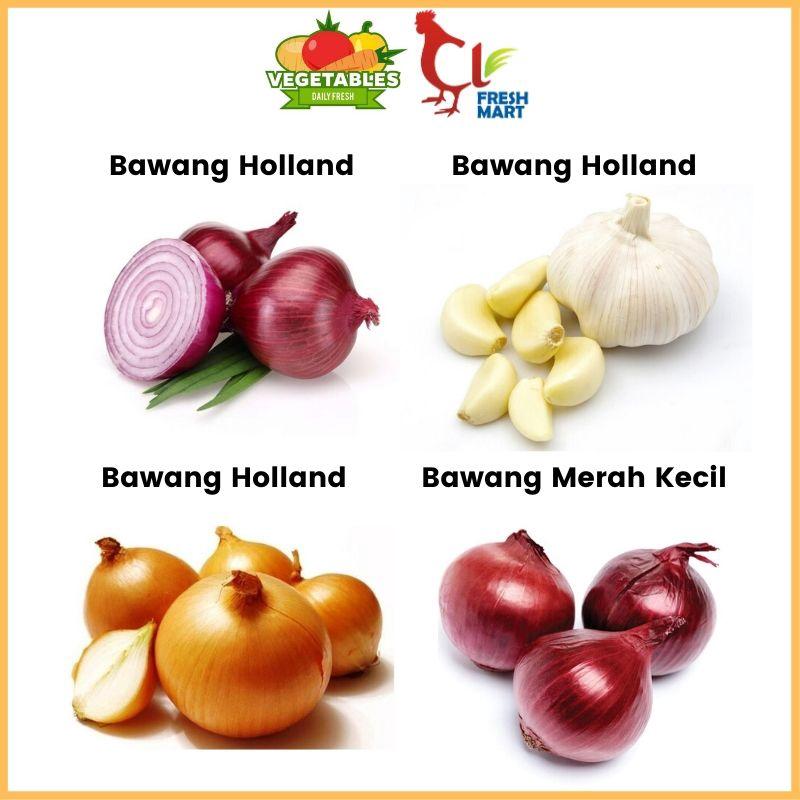 Bawang Merah / Bawang Merah Kecil / Bawang Holland / Bawang Putih 1KG