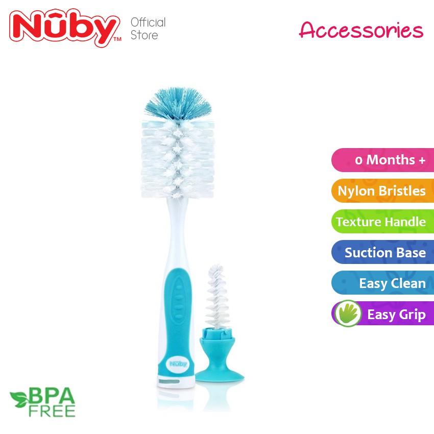 Nuby Deluxe Bottle and Nipple Brush Purple
