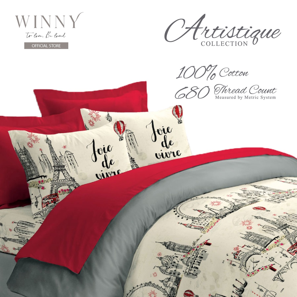 Winny Artistique Queen Fitted Sheet Set Cotton