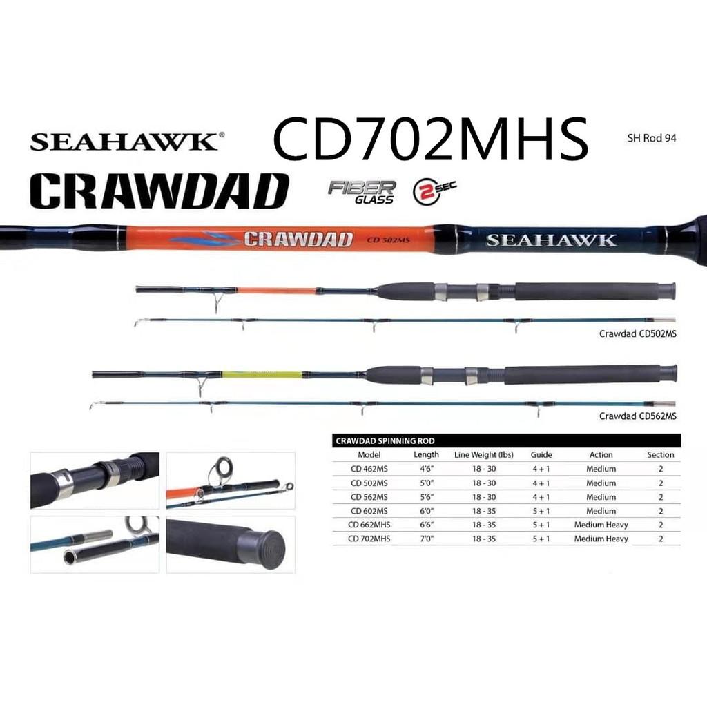 Seahawk Crawdad Spinning Rod CD702MHS