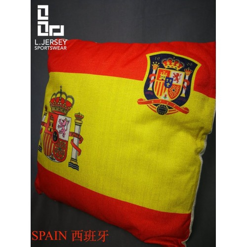 Spain Pillow World Cup 2018 National Graphic